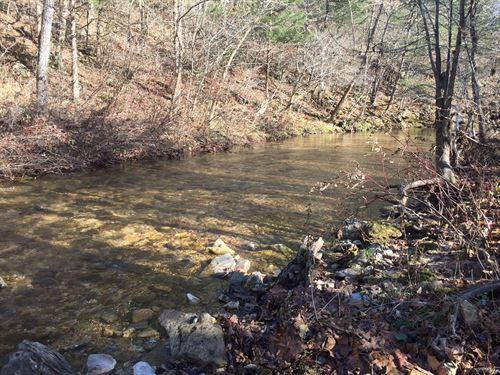 12 Acre Creek Side Getaway : Yellville : Marion County : Arkansas