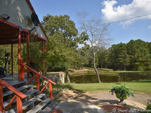 Beautiful Acreage, Pond And Cabin : Quitman : Cleburne County : Arkansas