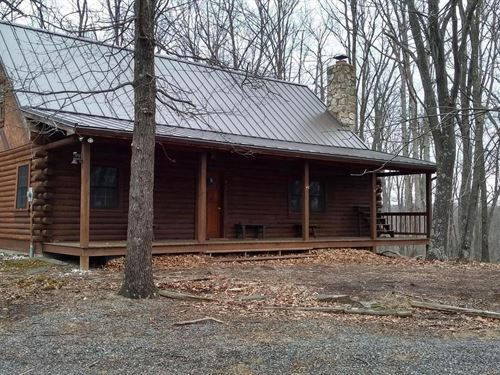 Log Cabin With Land : Burlington : Mineral County : West Virginia