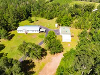 Land with Home Barns and Timber : Quincy : Gadsden County : Florida