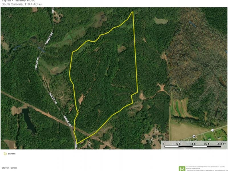 110.40-Acres-Great Recreational : Jonesville : Union County : South Carolina