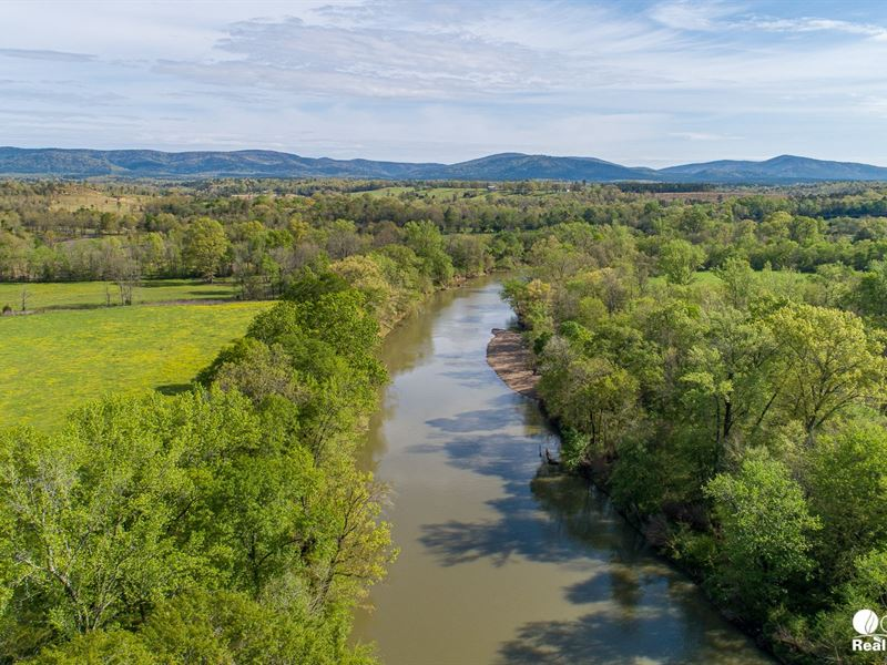 80 Acres on The Ouachita River : Mena : Polk County : Arkansas