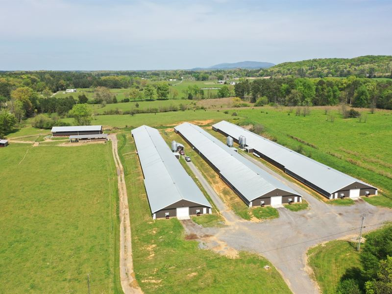 Three House Broiler Farm : Old Fort : Bradley County : Tennessee