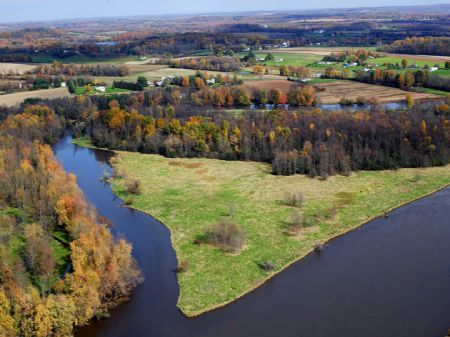 Private Island Erie Canal 53 Acres : Brutus : Cayuga County : New York