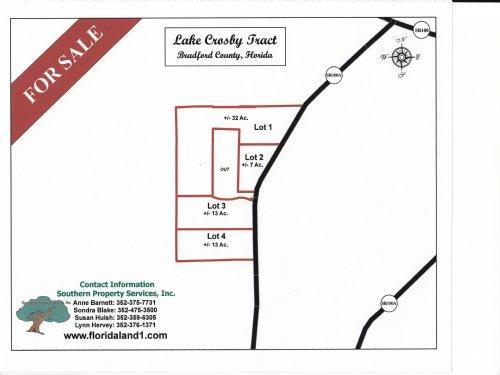 12.32 Acres - Lot 3 West Of Starke : Starke : Bradford County : Florida