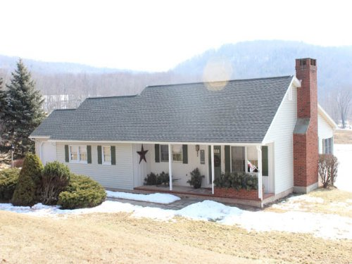 45 Acres, Ranch Home, Pole Building : New Albany : Bradford County : Pennsylvania