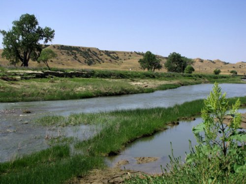 River Front Bordering Public Land : Mosby : Garfield County : Montana